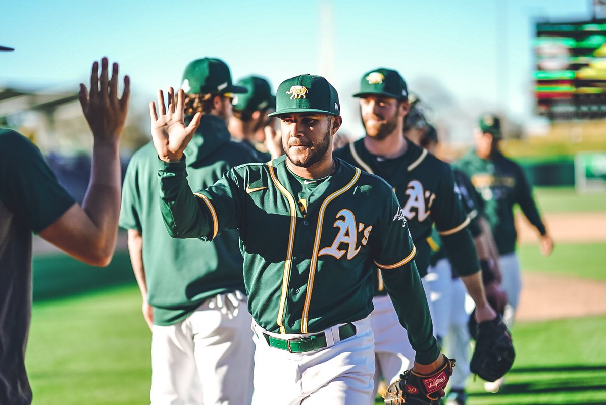 The haters thought they would never see those notoriously crispy Oakland Athletics post-victory high-five photos ever again   #RootedInOakland <br>http://pic.twitter.com/hfKOdDvzyq