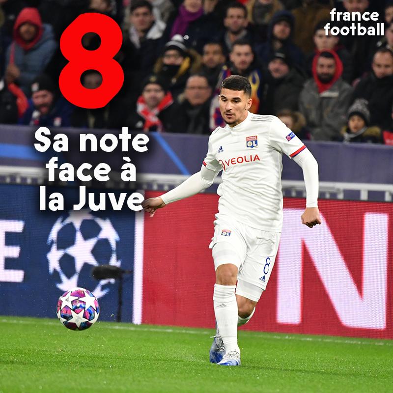 👉 À ce niveau, Houssem #Aouar ira très loin. 👉 Toutes nos notes de ce Lyon-Juventus Turin : bit.ly/37ZhR0Z
