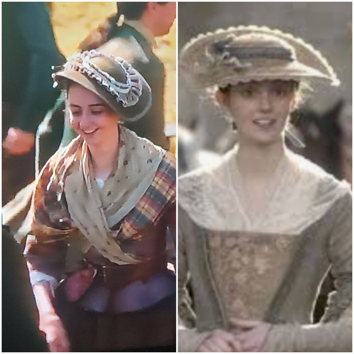 Was you late wife Isobel used as an extra on Outlander  5:1, the wediibg/dancing scene? If not I believe she has a twin ..#LordJohnGrey