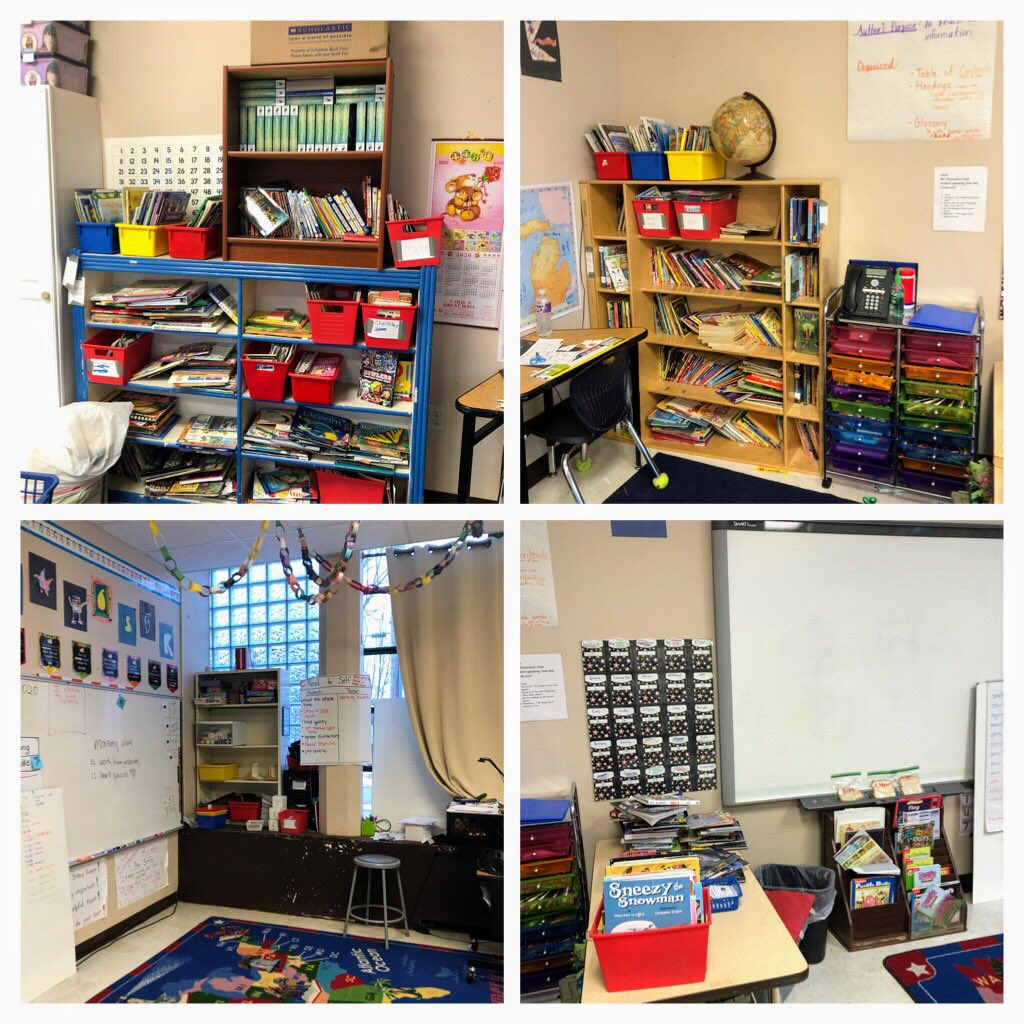 What do you get when a classroom teacher and early literacy coach work together on essential #8? Classroom library before and after pictures!! Way to go Ms. Peterson! @BayCityAcademy @baisd #michiganliteracy #baisdchampion<br>http://pic.twitter.com/pRaWQNpS4C