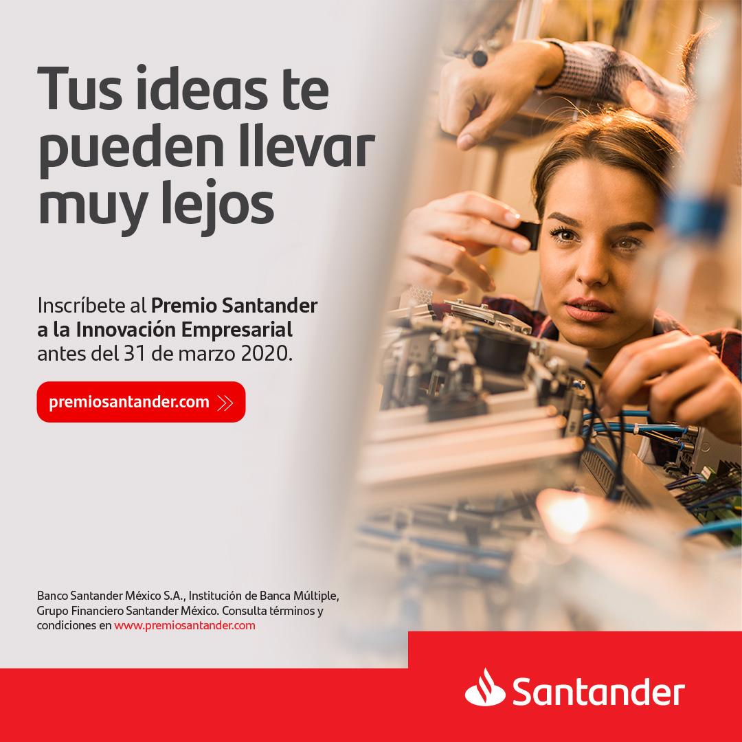 ¡México necesita emprendedores en crecimiento y tú puedes ser uno de ellos! @santanderunimx , uno de nuestros grandes aliados, tiene una oportunidad para ti. Inscríbete en   en las categorías #Idea o #Prototipo. Tienes hasta el 31 de marzo.