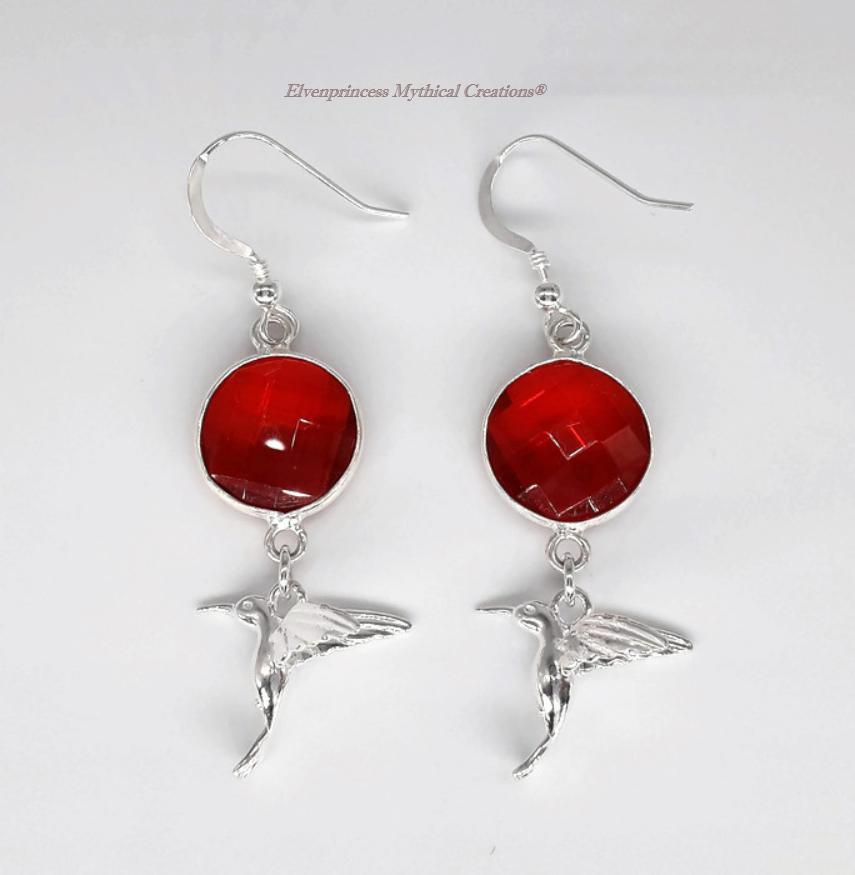 Sterling Silver Red Quartz Humming Bird Earrings  via @Etsy   @mythical_rosie @handmadebritain @ukhandmade #jewellery #mothersdaygift #onlineshopping #shoplocal #internet #ThursdayMotivation #thursdaymorning
