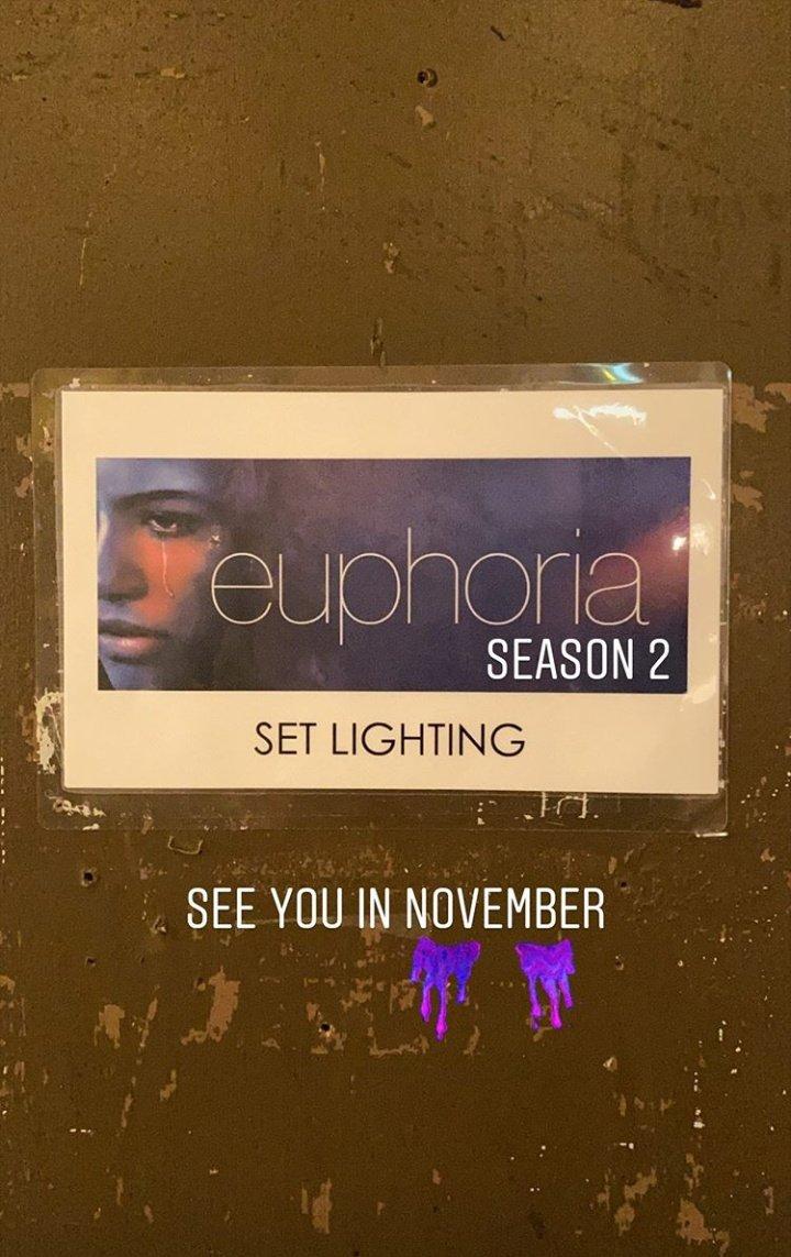 The production has begun! Euphoria Season 2!  #Euphoria #EuphoriaHBO<br>http://pic.twitter.com/bkJK4FjOJc