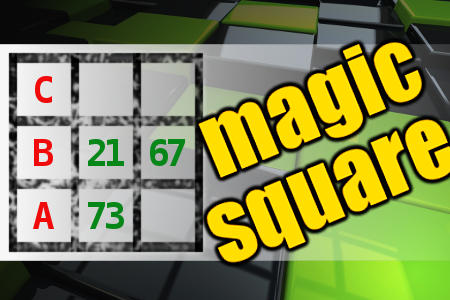 MAGIC SQUARE: Calculate A-B-C #math #brainteasers CHECK ANSWER->
