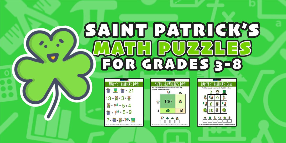 Are YOU looking to add a little green to your lesson plans next month!? mashupmath.com/blog/stpatrick… #iteachmath #edchat