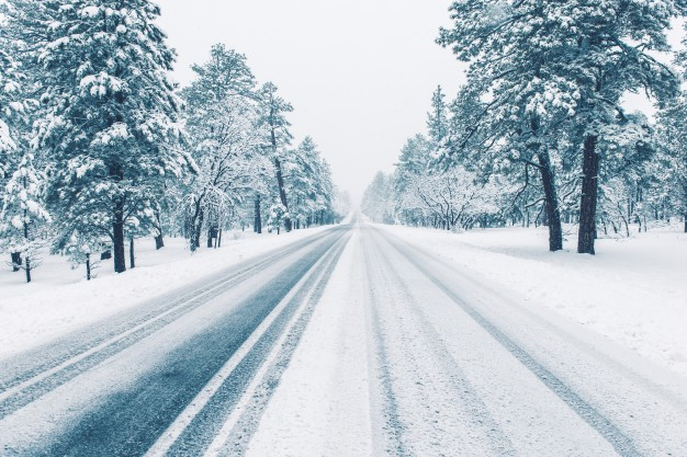 A beautiful snowy road! #SnowfallWarning #winter #photography