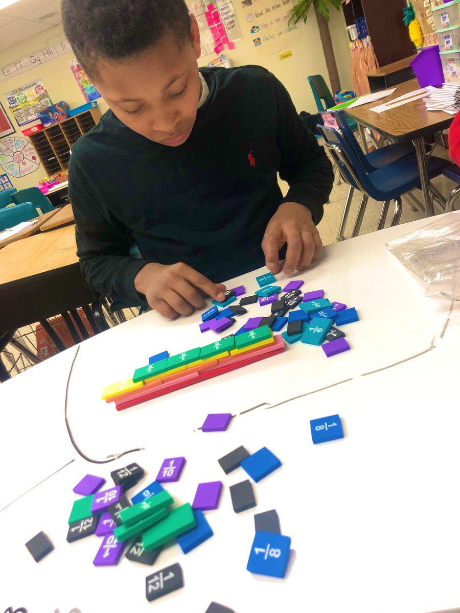 Using fraction bars to represent one whole