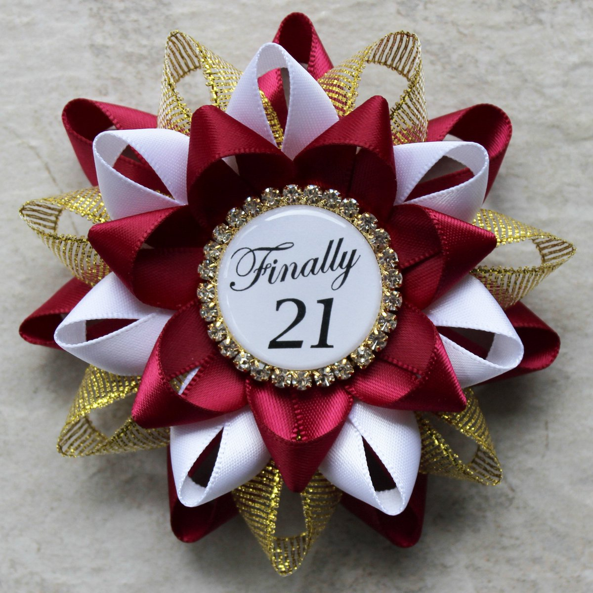 Finally 21, 21st Birthday Decorations, 21st Birthday Gift for Her, 21 and Legal, 21 Today Pin, Gift for Birthday Girl, Wine, Gold, White http://tuppu.net/3cb02255 #shopsmall #shop #etsy #sale #shopping #etsyshop #store