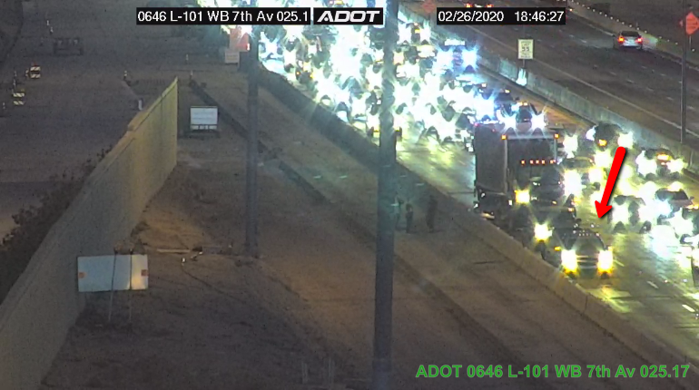 Image posted in Tweet made by Arizona DOT on February 27, 2020, 1:48 am UTC