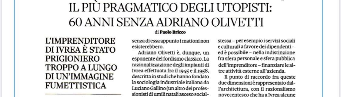 #AdrianoOlivetti