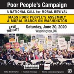 Image for the Tweet beginning: Join poor people & moral