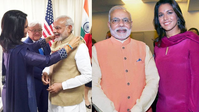 Still no word from Tulsi on the deadly pogroms in Delhi that her friend Modi has stoked