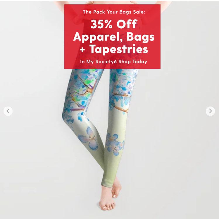 Ends 2/29 #sale 35% off some of products. Check at:   - #society6  #giftideas #apparel #giftforher #leggings #flowers #floral #watercolor #painting