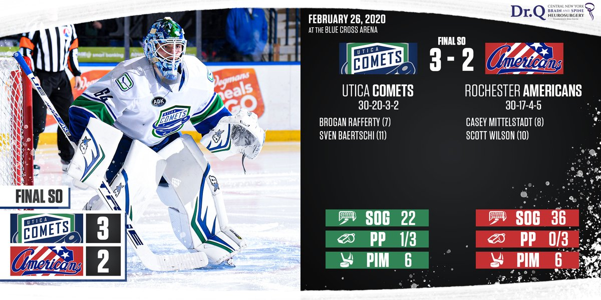 The Comets topple the Amerks in a shootout!  Recap: http://bit.ly/2Tj0aUL