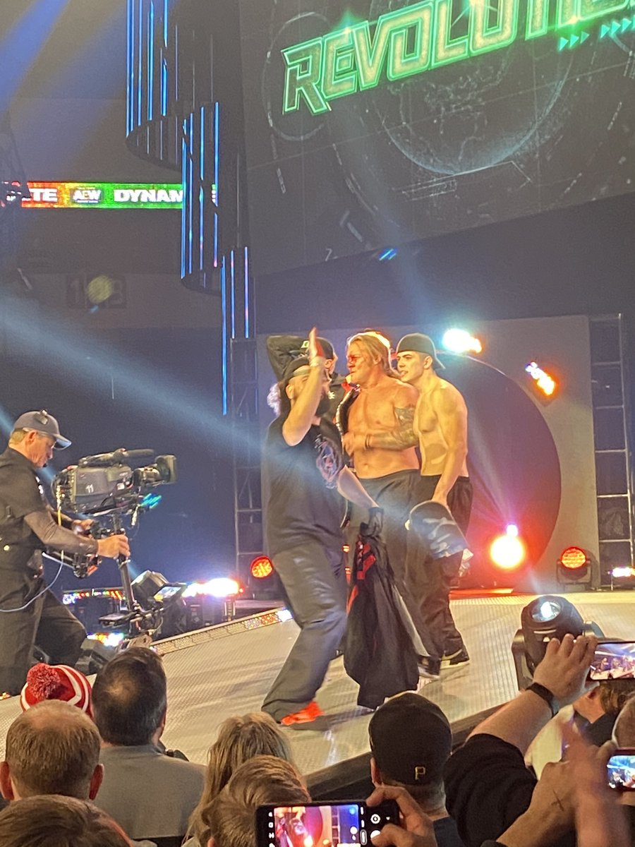 @IAmJericho Jericho is still the GOAT at being the bad guy. Enjoyed being at the show live tonight. #AEWDynamite