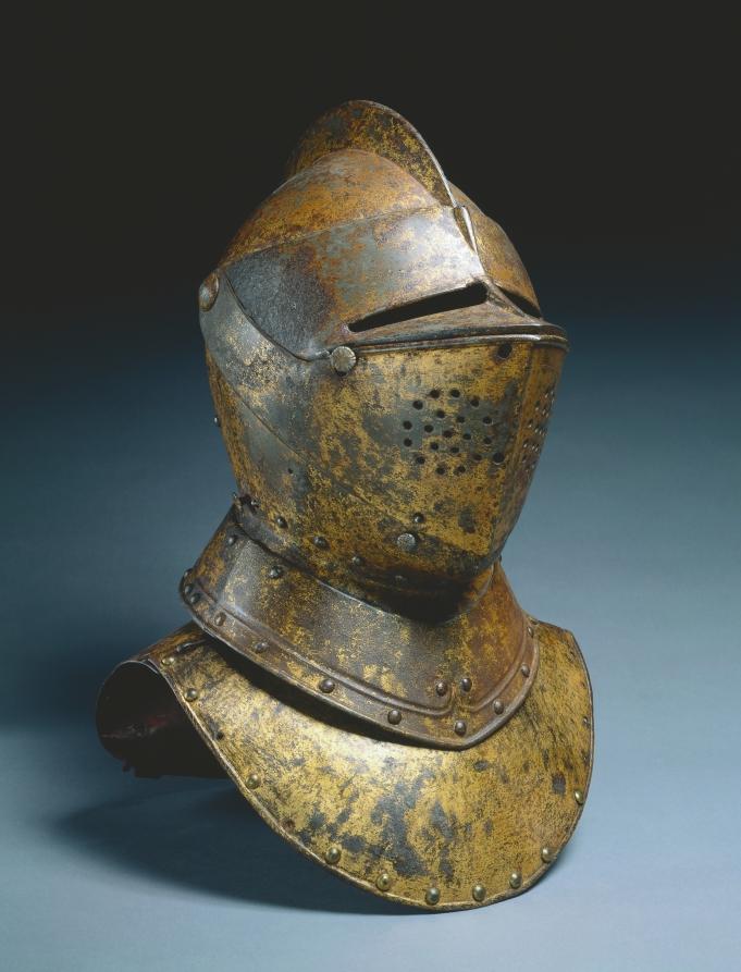 Close Helmet (from a funerary achievement?), c.1590-1625  #clevelandartmuseum #MedievalArt