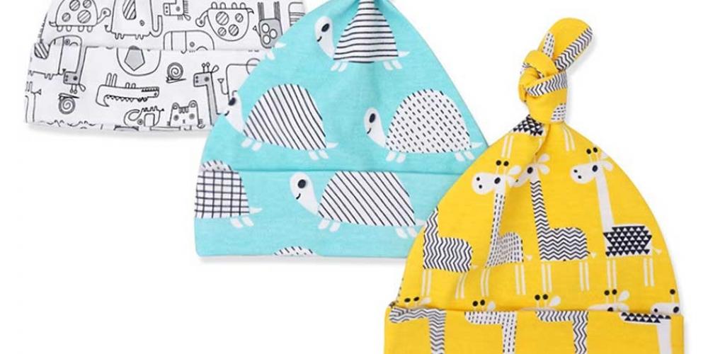 $0.00 #party #babies Colorful Cotton Baby Cap 3 pcs Set
