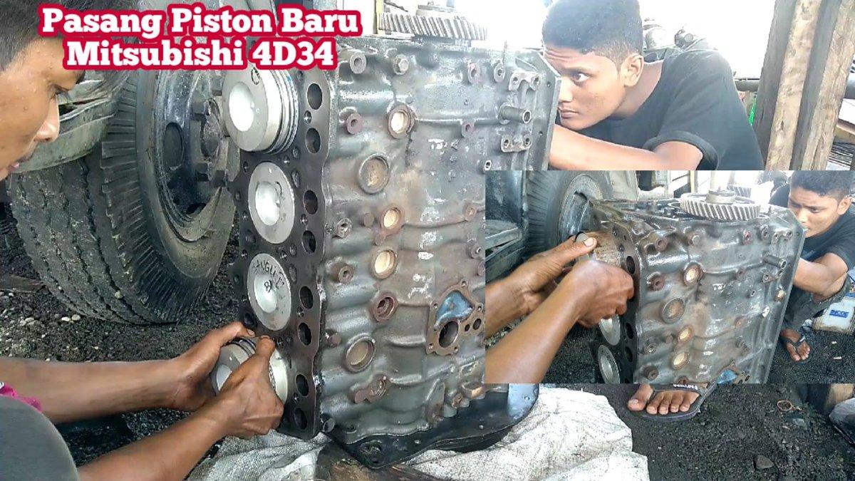 Rakit mesin kembali   #RakitMesin4D34 #CaraMemasangPistonDiesel #MitsubishiMotors