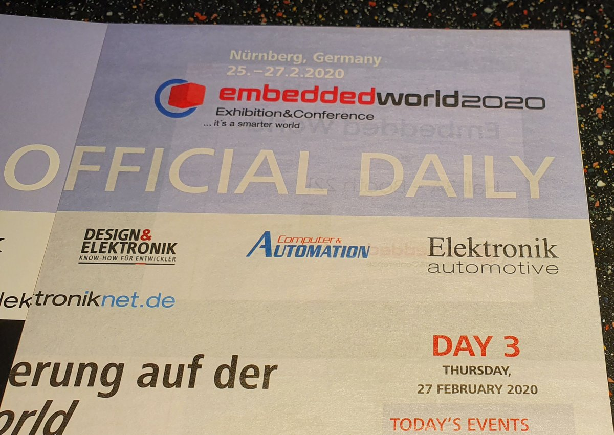 ⚠ Day #3 ⚠ Today is the third and final day of the trade fair @embedded_world  👉  Visit @adl_europe and @beckhoff_de  WE ARE HERE + EXHIBITING Hall 1, Booth 1-554 #ew #ew20 #ew2020 #futurestartshere #adl #ipc #sbc #industrial #automation #day3