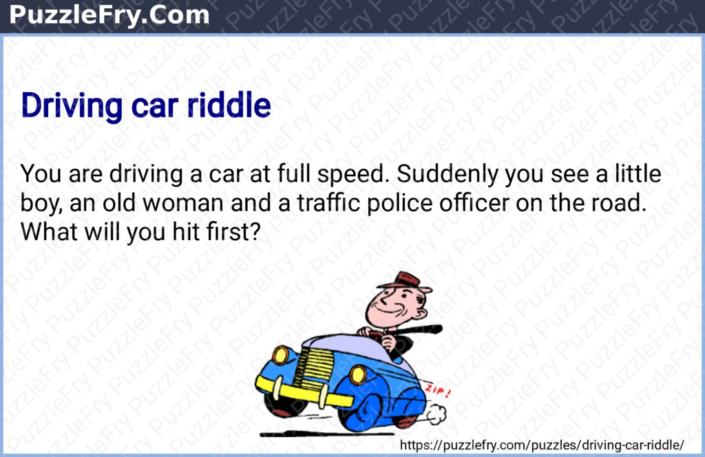 Driving car riddle #puzzles #brainteasers #riddles Reference -