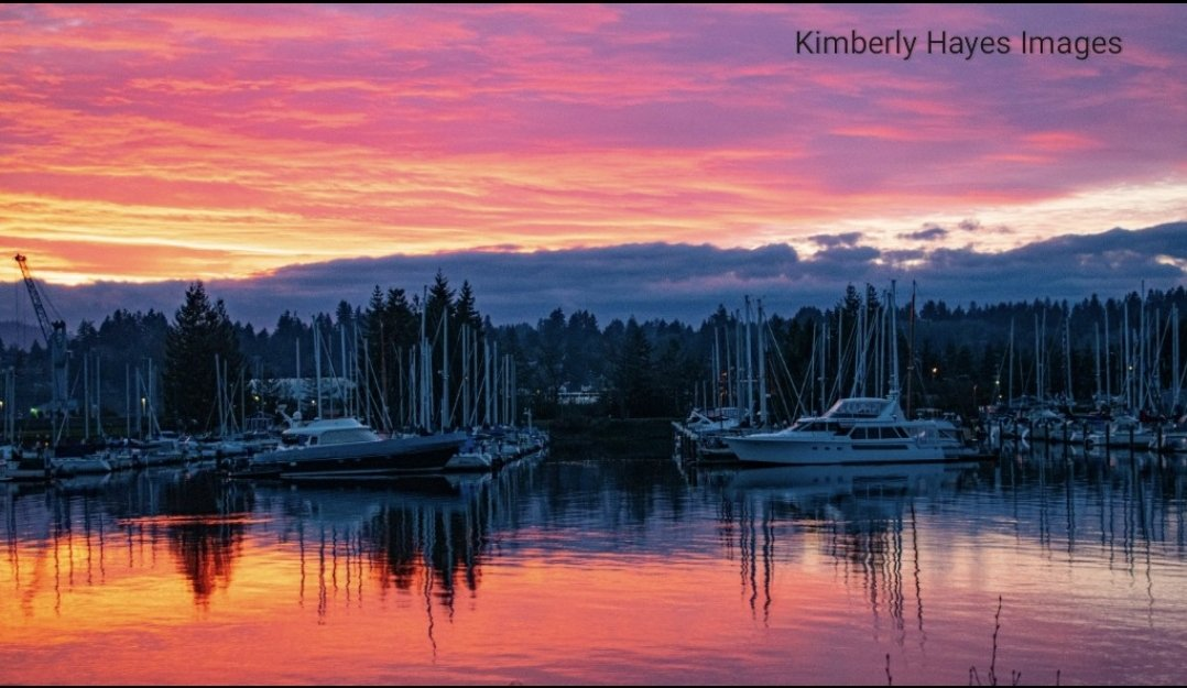 #marina #waterfront #sunset #sunsets #sky #reflection #clouds #water #pacificnorthwest #washingtonstate #cascadiaexplored