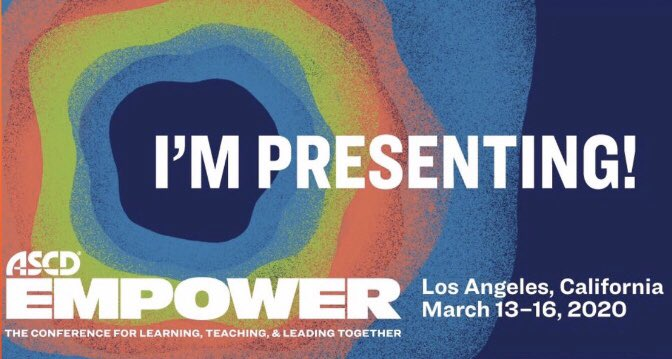 It is almost time for @ASCD #Empower20. What is your over under for the number of 🤳🏾 I will take 🤔 #Empower19  Join me on 3/15 at 3:00 for Educators, You Are More Than What You Teach!  @PrincipalKafele @posickj @PrincipalJ @basil_marin @RosaIsiah @PhilEchols  @KyleHamstra https://t.co/nfJByCjf2I