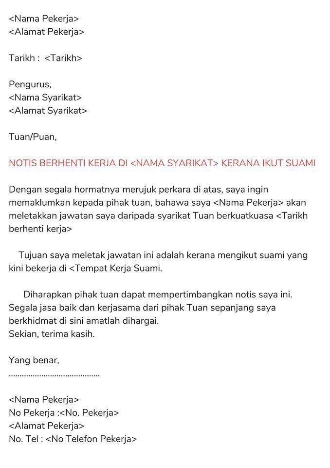Resume Kreatif On Twitter Contoh Surat Berhenti Kerja Dalam Bahasa Malaysia 1 24 Jam 2 Serta Merta 3 Sebulan 4 Seminggu 5 Atas Sebab Sebab Tertentu Share Untuk Rujukan Yang Lain Kredit Maukerja Https T Co 51vqs2chsx
