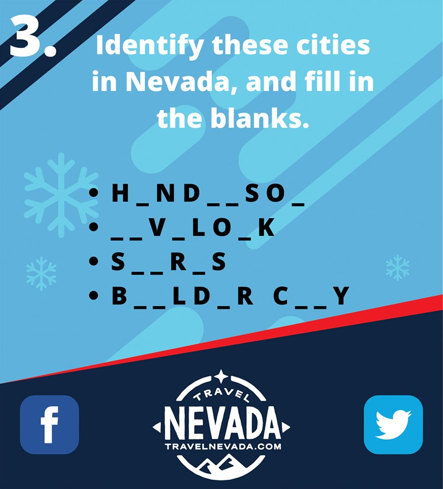 #ContestAlert  Identify these cities in Nevada, and fill in the blanks.🚩 Answer in the comments section keeping the 'contest rules' in mind, and get a chance to win exciting prizes.🎁🥳  #Nevada365 #TravelNevada #TravelNevadaIndia #StayTuned #win #prize #play #game #photo