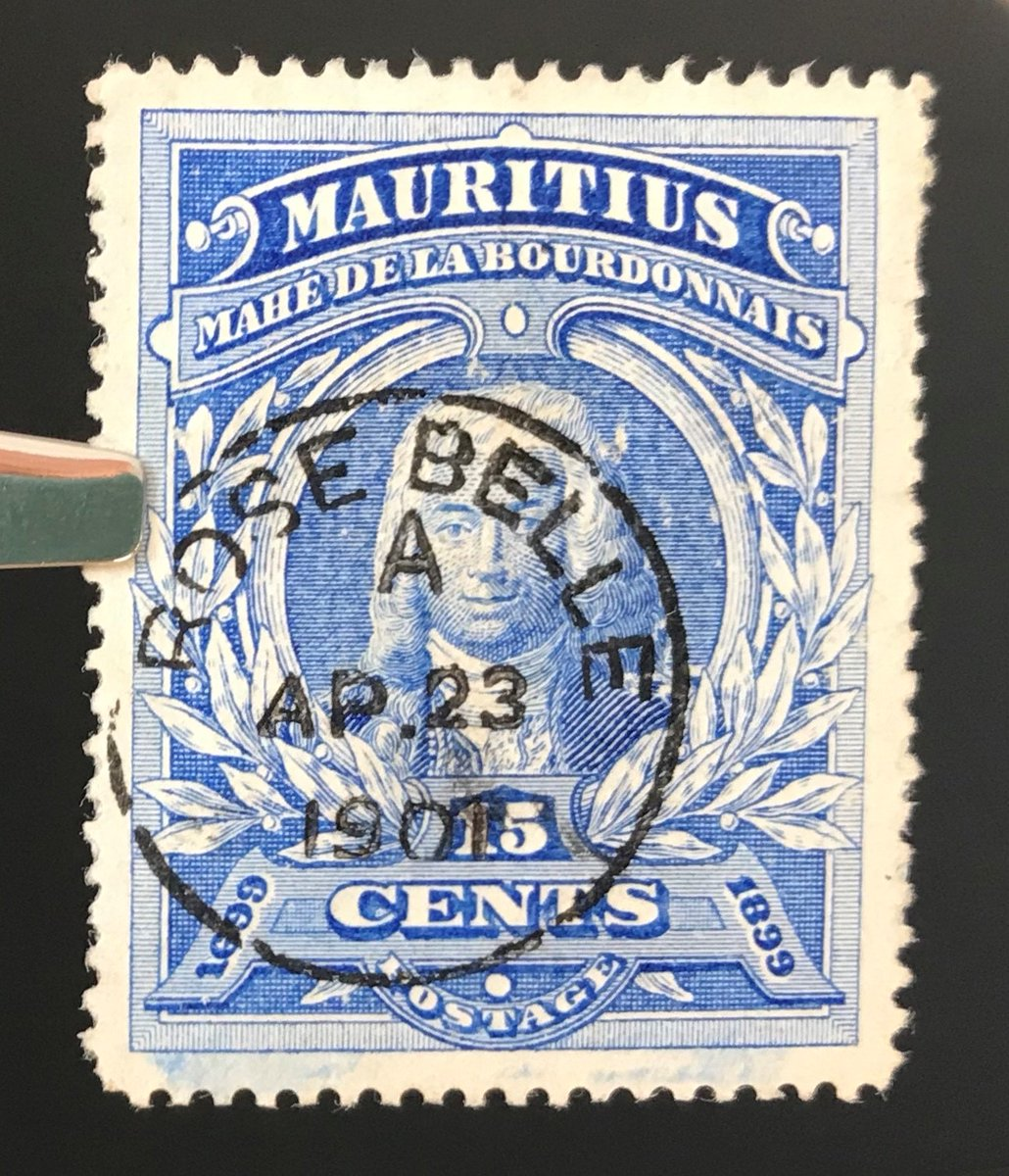 « Rose Belle » cancellation, what a beautiful name for a city! #Stamp from Mauritius, Mahé de la Bourdonnais, Admiral of France. #philately <br>http://pic.twitter.com/aXXTOGr5cx