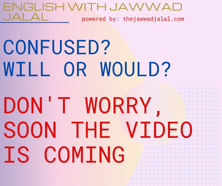 #englishwithjawwadjalal #thelearningart #thejawwadjalal #englishlanguage #englishgrammar #englishlesson #englishlessons #willandwoulduse #englishteacher #englishspeaker #englishlearningpic.twitter.com/wD2AoYCpux