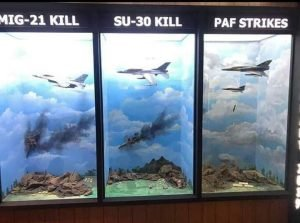 Pakistan Air Force also have Indian Air Forces' Mirage Jet as souvenir of that day, in the gallery they shows in a glass frame the part of the Crashed Jet. #WeSaidWeDid<br>http://pic.twitter.com/4O0kkT54K7