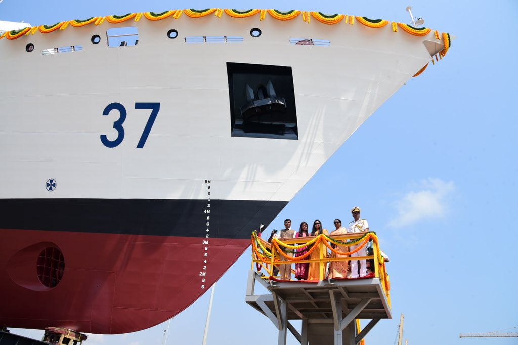 Launch of ICGS Vajra (37).