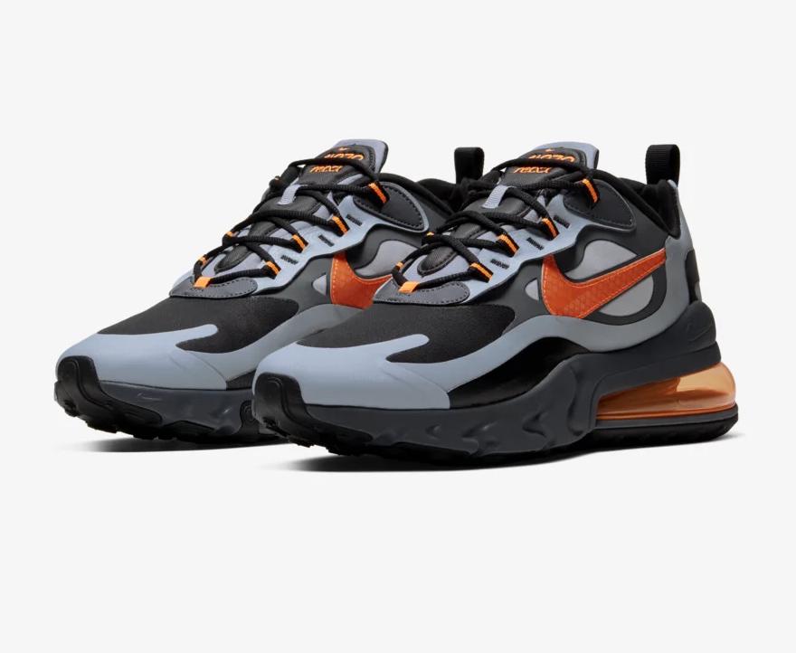 #SneakerScouts The Nike Air Max 270 React Winter 'Wolf Grey/Total Orange' is now available via @FinishLine for $80! (retail $160) https://www.finishline.com/store/product/mens-nike-air-max-270-react-winter-casual-shoes/prod2792648?styleId=CD2049&colorId=006&ranMID=37731&ranEAID=zAJE4hSbGa4&ranSiteID=zAJE4hSbGa4-MOvGVwozq3CYM1oAl2uO2w&CMP=AFL-LS-affiliatechannel&sourceid=affiliate&utm_source=3516449&utm_medium=affiliate&utm_campaign=1&siteID=zAJE4hSbGa4-MOvGVwozq3CYM1oAl2uO2w…pic.twitter.com/7R3ZpikAp3