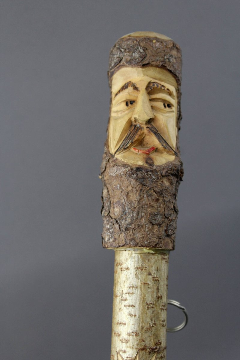 Vintage. Erzgebirge . Handicraft High quality walking stick for hiking from the 50s with wandering badges from Europe https://etsy.me/2F50tPo via Etsy.pic.twitter.com/deIL8yWcMK