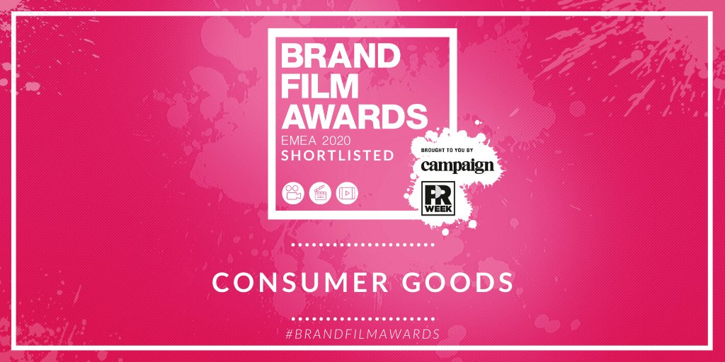 Shortlisted for Consumer Goods: @AMV_BBDO for @Diageo_News @bcwldn for @tourismlk @CitizenPRUK for @The_Macallan  @gorilla_london for @honestburgers @ImaginationGLBL for @JLR_News @TheBKBrothers for @WaterWipes  #BrandFilmAwards @prweekuknews @Campaignmag https://buff.ly/397Olrapic.twitter.com/fhYN48Nw9t