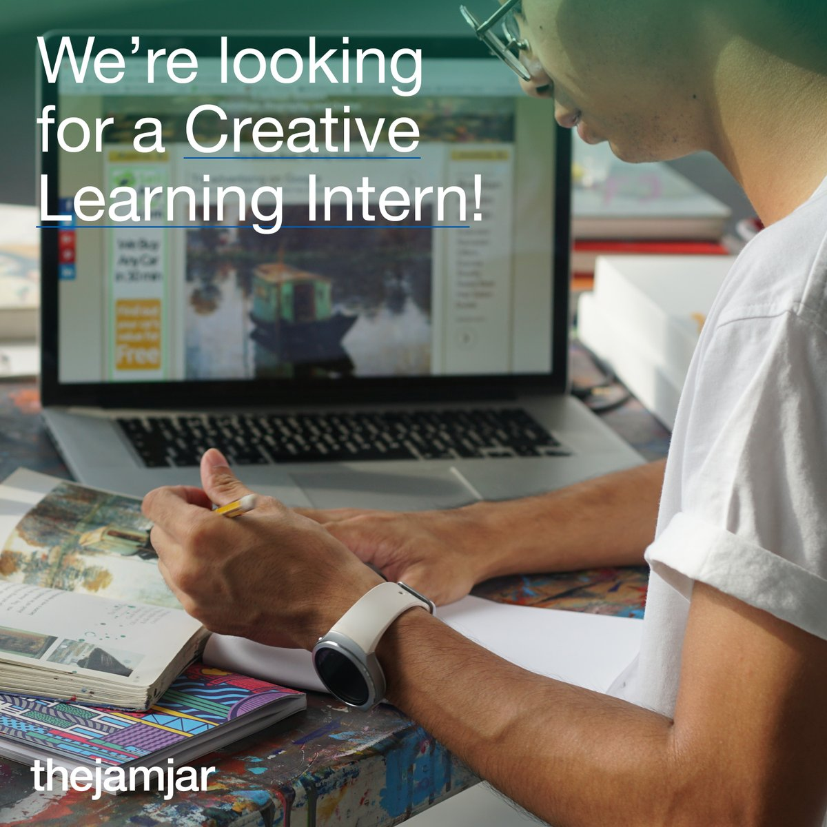We're looking for a Creative Learning Intern to join us this March!  The intern will help create lesson plans and assist with school workshops.  . Timings: Sundays-Thursdays, 8am-1pm . Email your CV and portfolio to learning@thejamjardubai.com . #thejamjardubai #dubai #uae
