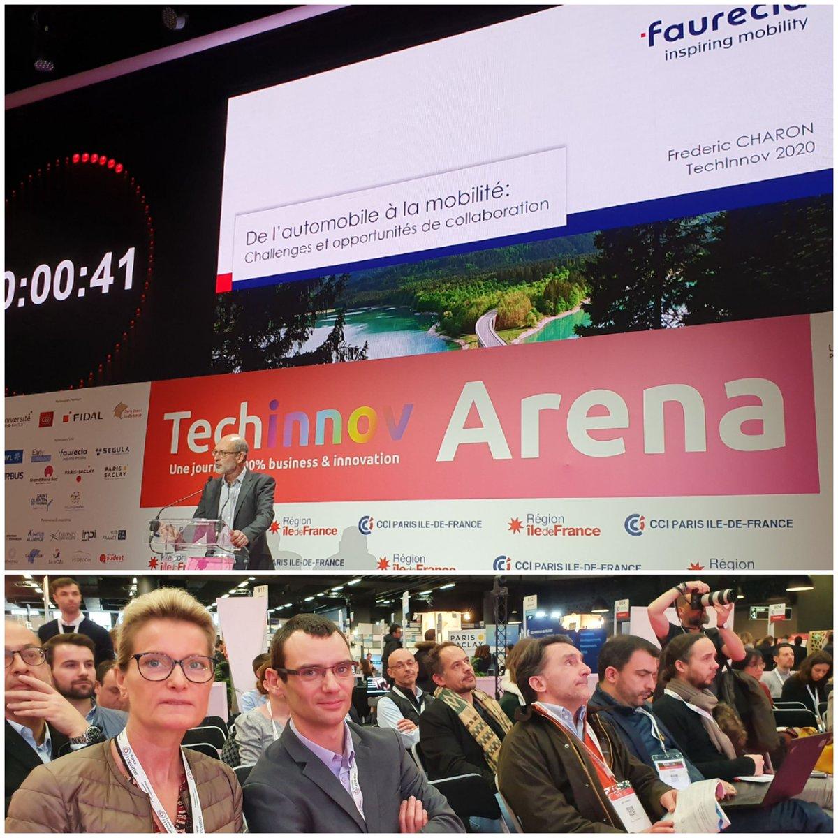 Développer #openinnovation #madeinfrance en participant #techinnov2020 - présentation des opportunités de collaboration @faurecia par @fredericcharon et l'équipe #achatsinnovationpic.twitter.com/3cILYONGrd