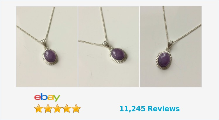 Brand New 925 Sterling Silver Rope Edge 14 x 11mm Amethyst Pendant Necklace   eBay #sterlingsilver #amethyst #ropeedge #pendant #necklace #handmade #jewellery #gifts #giftideas #giftsforher #beauty #pretty #accessories #giftshop #jewelry #jewelrylover