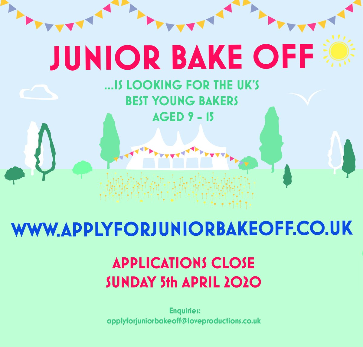 Is your child an aspiring baker?!  Why not apply for Junior Bake Off!  #juniorbakeoff<br>http://pic.twitter.com/S58xcpOd5Y