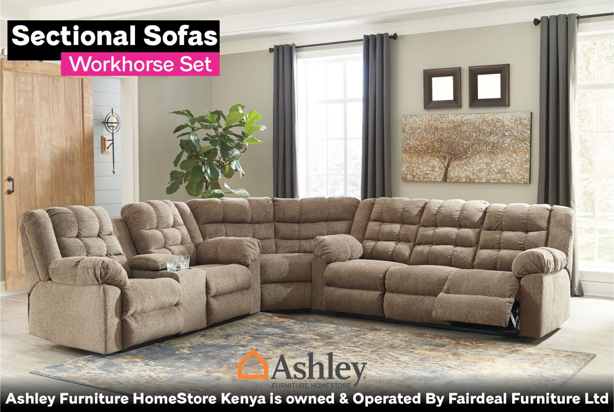 Ashley Furniture Homestore Kenya On Twitter Saddle Up For Affordably Priced Luxury With The Workhorse 3 Piece Reclining Sectional Workhorse Sectionalseating Sectionalsofasinkenya Sofa Https T Co Ieibrlejlq Https T Co 9ev3kpkpub