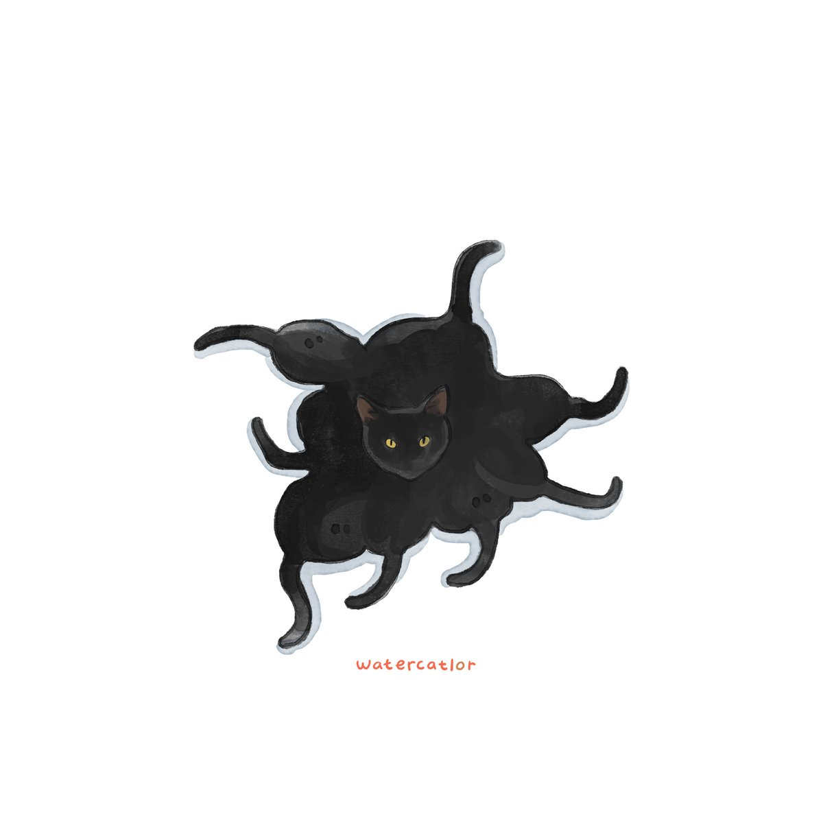 Cattopus . photo credit: unknown #angrycatto #illustration #doodle #meowed #9gagmeowdle #cat #kitty #watercatlor #9gagcute #9gag #catsareliquid #catmemes #catsofinstagram #kitty #kitten #catsareliquid #catlady #chonky #chonkycattospic.twitter.com/bP7BUCa7Xe