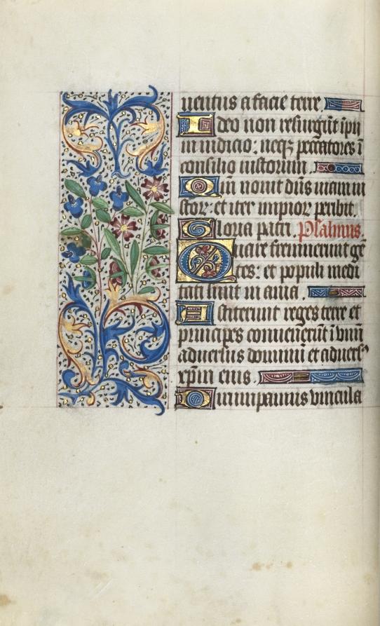 Book of Hours (Use of Rouen): fol. 57v, Master of the Geneva Latini, c. 1470  #cmaopenaccess #MedievalArt