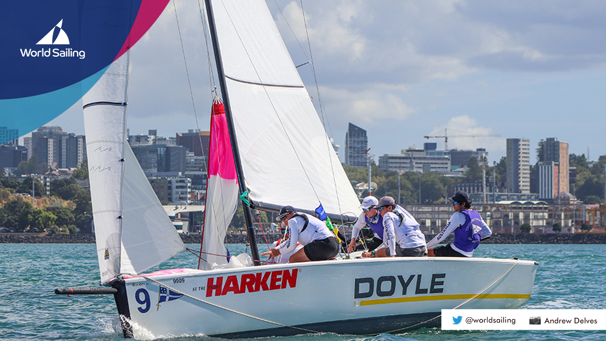 American teams led by Jack Parkin and David Wood 🇺🇸 are competing this week at the @HARKEN Youth #MatchRacing World Championship at @rnzys. Day 1⃣ results ⬇️
