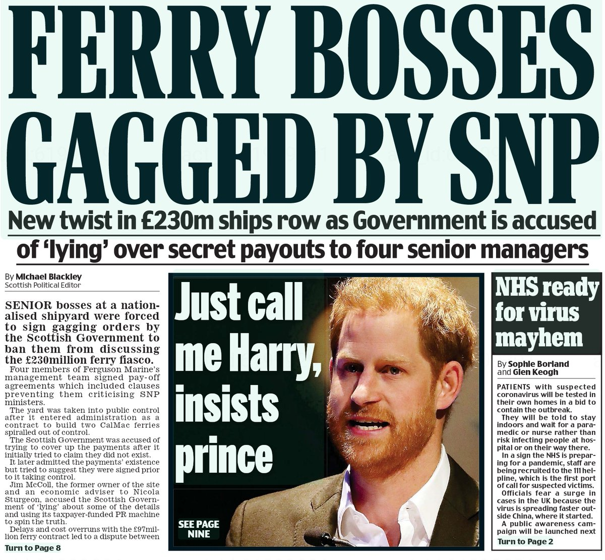 Four managers were paid off with generous deals by the SNP in return for silence.  Just what are they hiding from the public?