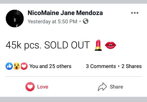 Yesterday naka 45K pcs. SOLD OUT ang MAC LIPSTICK and LIP GLASS ni MAC MAKER @mainedcm  #MaineMendoza  #MACMaine2Review  #MaineForMAC<br>http://pic.twitter.com/OYZ1jCTDyL