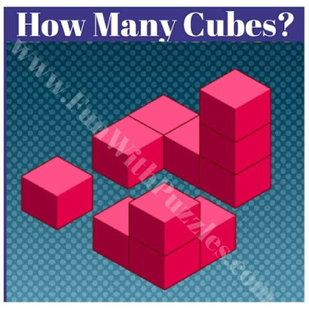 How many cubes are there in picture puzzle? ⁣ Source: ⁣ #puzzles #puzzle #brainteaser #riddles #riddle #brainteasers #mind #challenge #iq #iqtest #puzzleoftheday #puzzlelover #puzzlegames #puzzlegame #puzzlegenius #puzzlesfordays #puzzleaddict #puzzlead…