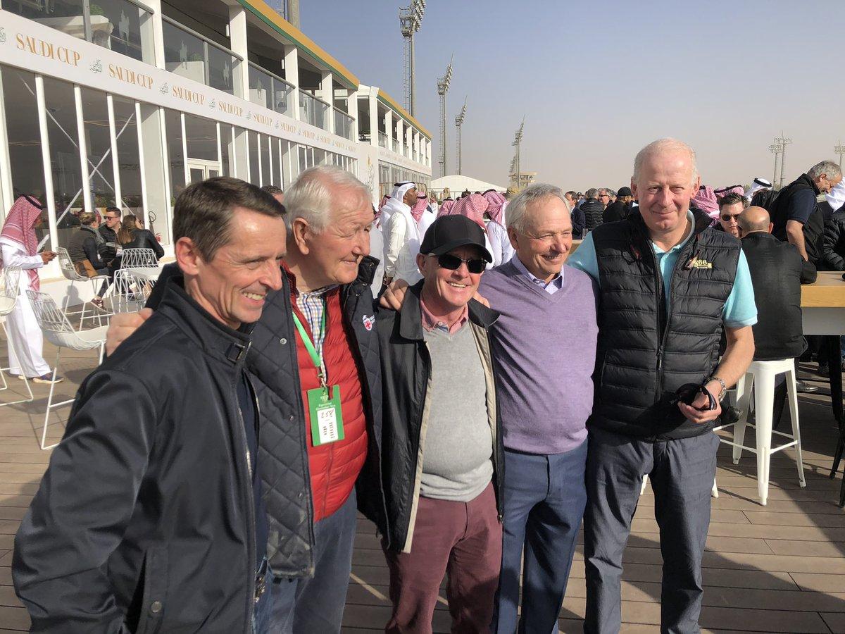 Name the five gentlemen - pic taken at track work this morning pic.twitter.com/ujM4wVytSk – at ميدان الملك عبدالعزيز للفروسية King abdulaziz equestrian club