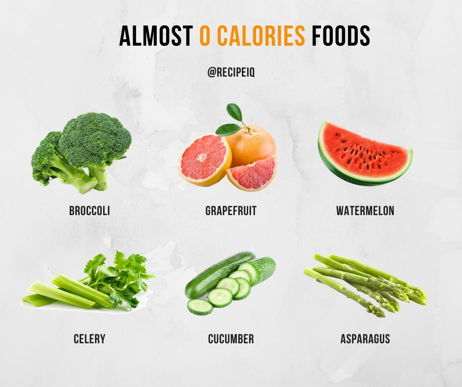 When it comes to these #foods, no need to worry about #calories.  #kcal #calorie #countingcalories #trackingcalories #diet #dietitian #diettips #100calories #0calories #lowcalories #fruit #fruits #veggies #cucumber #asparagus #celery #watermelon #grapefruit #broccoli #meal #eatpic.twitter.com/Cnl9BYizZz