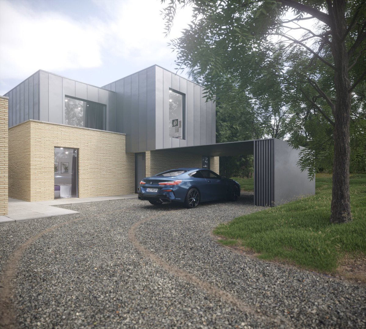 In love with the scheme for two contemporary homes in Huddersfield. Look at the view!  #huddersfield #contemporary #architecture #yorkshire #glass #zinc #views #cantilever #stone #leeds