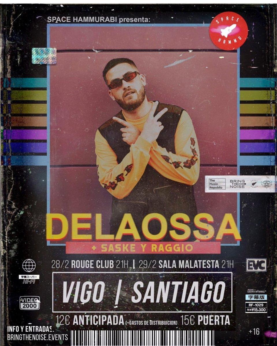 @delaossapicasso incluye #Galicia en la presentación de #unperroandaluz.  🎫  / 28 de Febrero @sala.rouge (#Vigo). / 29 de Febrero @SalaMalatesta (#santiagodecompostela). / #delaossa #jmoods #riasbaixas #pontevedra #compostela @BringTheNoiseES